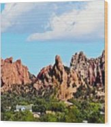Red Rock Formations Wood Print