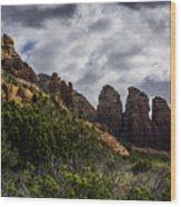 Red Rock Landscape From Sedona Arizona Wood Print