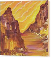 Red Rock Light II Wood Print