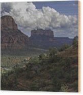Red Rock Of Sedona Arizona Wood Print