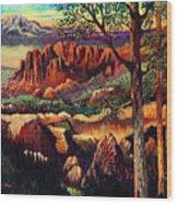 Red Rock Uplift Wood Print