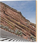 Red Rocks Amphitheater Wood Print