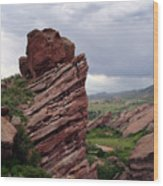 Red Rocks Colorado Wood Print