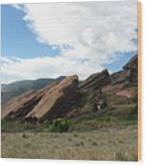 Red Rocks Denver Wood Print