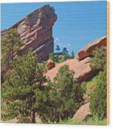 Red Rocks Landscape Wood Print