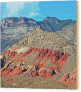 Red Rocks Nevada Wood Print