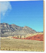 Red Rocks Nevada Panorama Wood Print