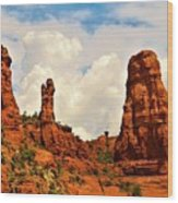 Red Rocks Of Sedona Wood Print