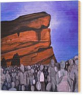 Red Rocks Wood Print