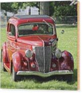 Red Rod Wood Print