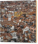 Red Roofs Of Venice Wood Print