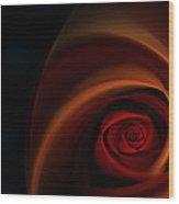 Red Rose Bud Wood Print