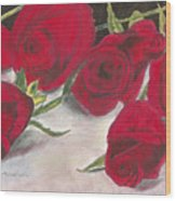 Red Rose Redux Wood Print