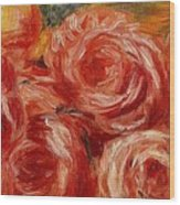 Red Roses Pierre-auguste Renoir Wood Print