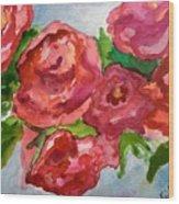 Red Roses, Red Roses Wood Print