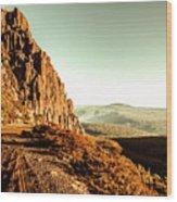 Red Rural Road Wood Print