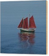 Red Sails On Superior Wood Print