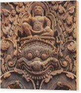 Red Sandstone Kala - Cambodia Wood Print