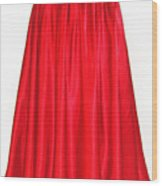 Red Satin Mid-calf Skirt. Ameynra Simple Line 2013 Wood Print