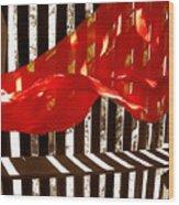 Red Scarf Wood Print