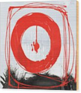 Red Scream Wood Print