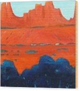 Red Sedona Wood Print