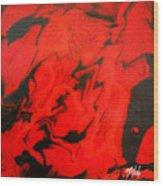 Red Series No. 1 Wood Print
