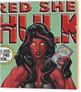 Red She-hulk Wood Print