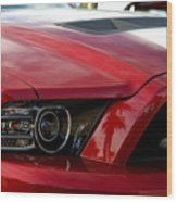 Red Shelby Wood Print