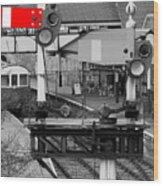 Red Signal Wood Print