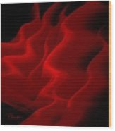 Red Silk Dreams Wood Print