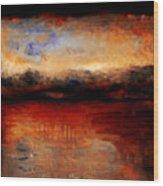 Red Skies At Night Wood Print