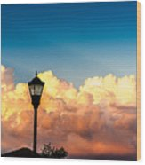 Storm Clouds During Sunset Wood Print