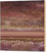 Red Sky At Night Sailor Delight Wood Print