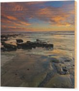 Red Sky California Wood Print