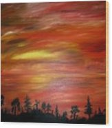 Red Sky Delight Wood Print