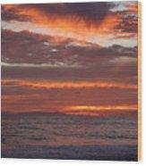Red Sky II Wood Print