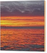 Red Sky In Morning, Sailor's Warning Wood Print