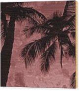 Red Sky Wood Print