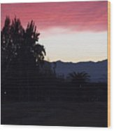 Red Sky Over The Andies Wood Print
