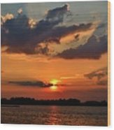 Red Sky Sunset Wood Print