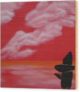 Red Sky1 Wood Print
