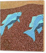 Red Snapper Inlay Sunny Day Invert Wood Print