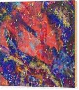 Red Space 15-13 Wood Print