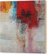 Red Splash 1 Wood Print