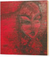 Red Stain Wood Print