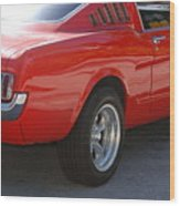 Red Stang Wood Print