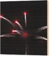 Red Stars Wood Print