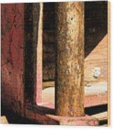 Red Steel Wood Print