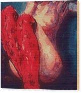 Red Stockings Wood Print
